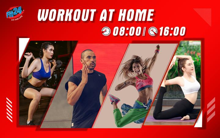 Workout At Home With Fit24 - LỊCH HỌC ONLINE TUẦN 06/04 - 11/04/2020